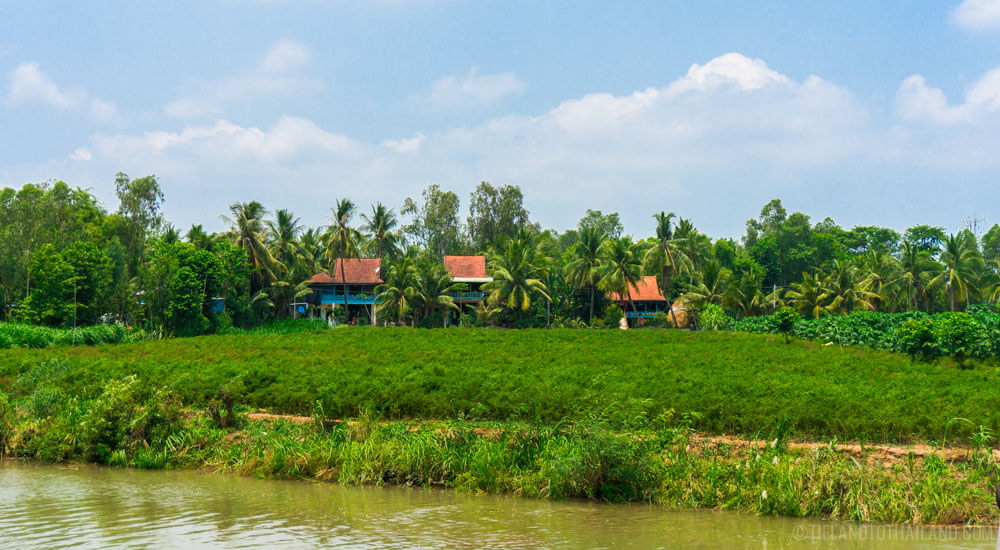 Country views during our Mekong River cruise