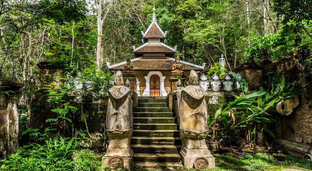 Simple temple of Wat Palat, hidden on the mountainside of Doi Suthep