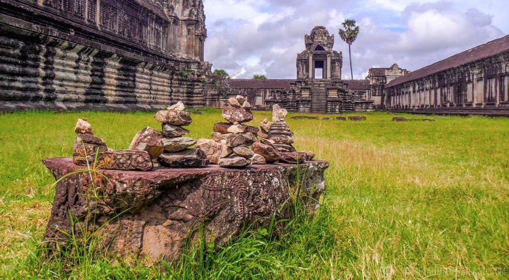 Zen stones at Angkor Wat