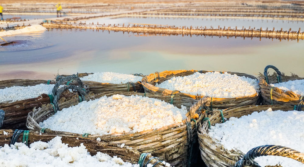 Salt farms in Isaan Thailand