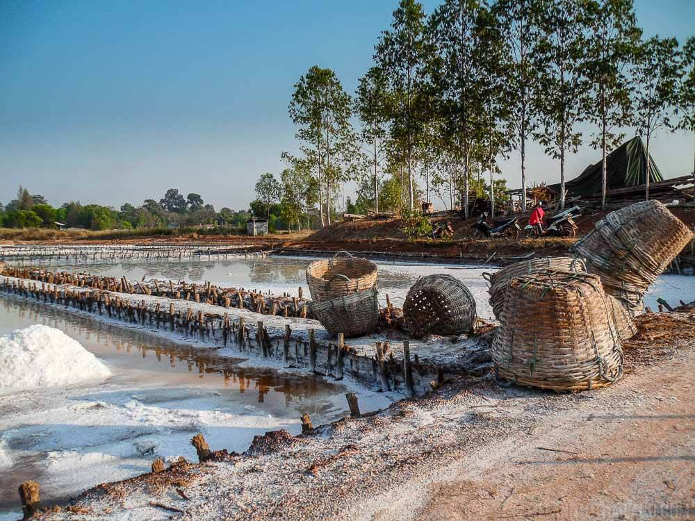 Salt Farm in Udon Thani, Thailand