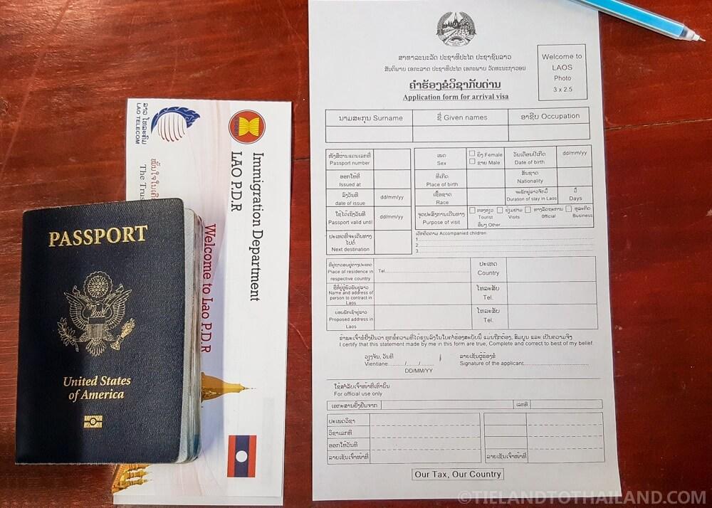 Laos Visa on Arrival & Arrival Card