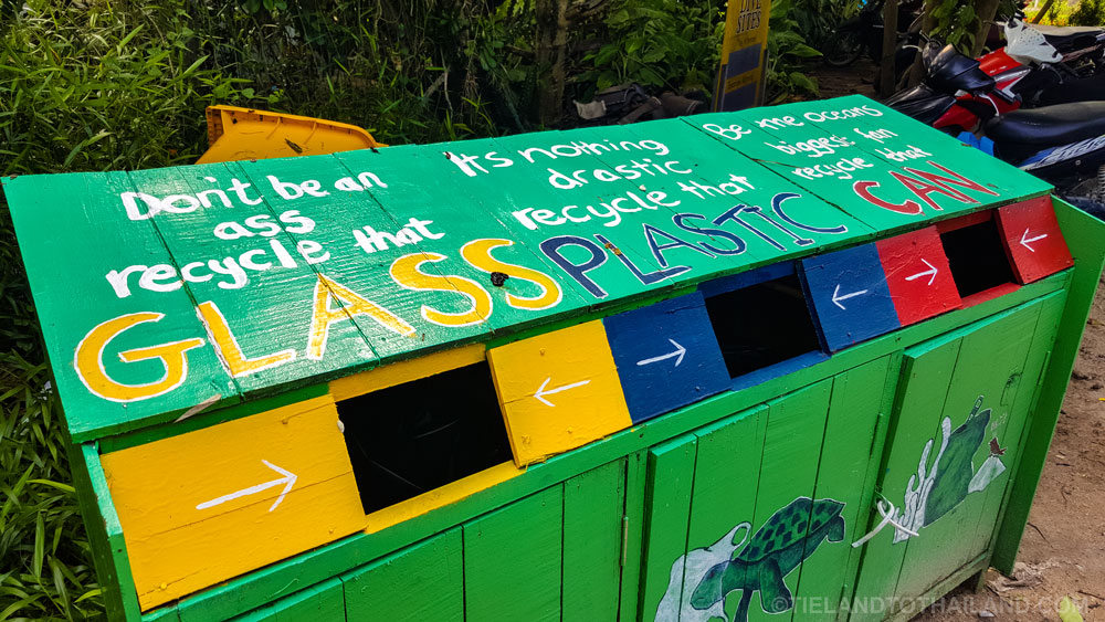 Recycle glass, plastics, and cans Thailand