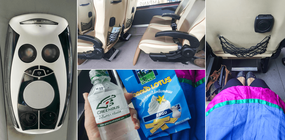 Green Bus VIP snacks and leg room