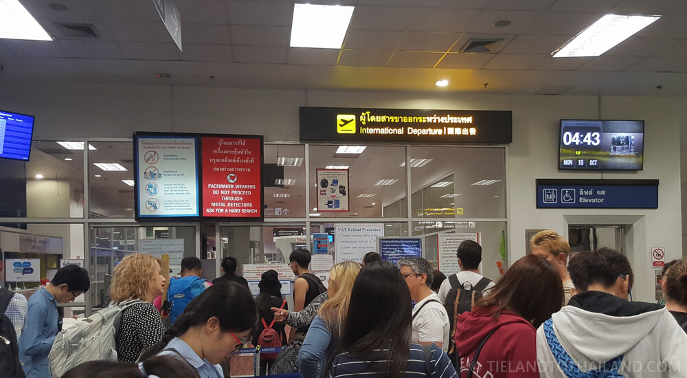 International Departure Line at Chiang Mai International Airport