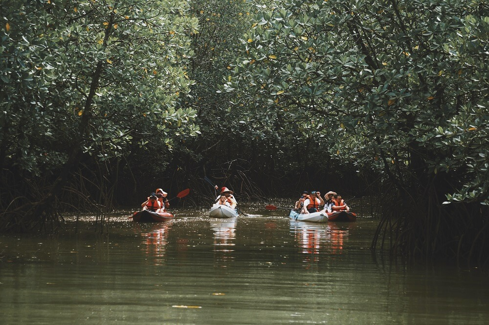 One Night Stay with Locals tour: Kayaking at Baan Sam Chong Nuea in Phang Nga