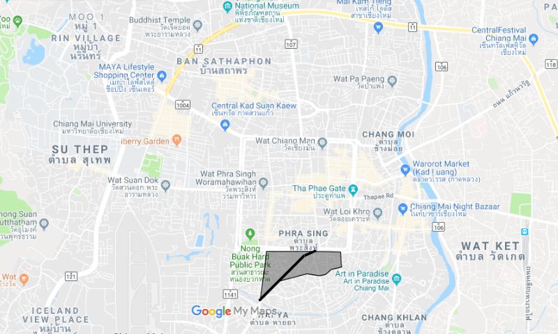 Neighborhood: Chiang Mai Gate and Wulai Road in Chiang Mai