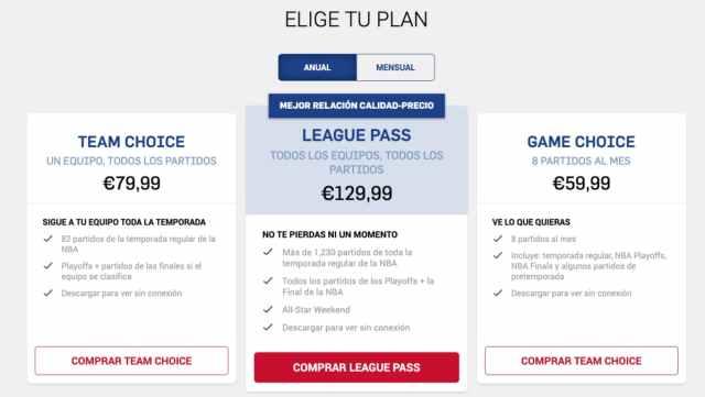 NBA League Pass Precio