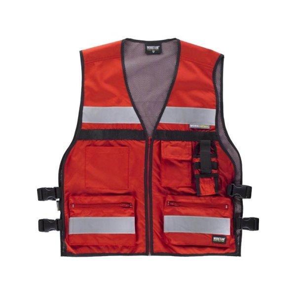 Chaleco Workteam Alta Visibilidad C3601 rojo
