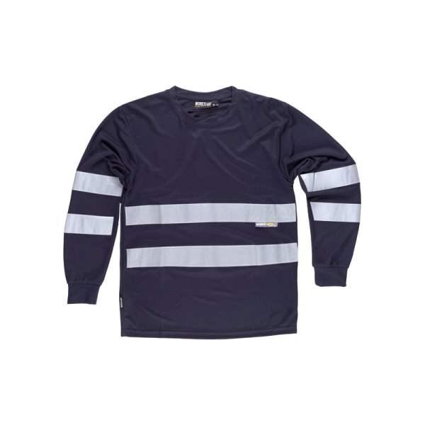 camiseta-workteam-alta-visibilidad-c3938-azul-marino
