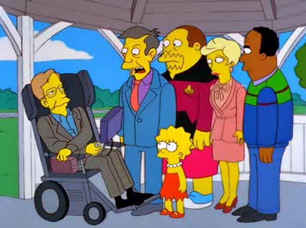 Stephen Hawking en un episodio de Los Simpsons.