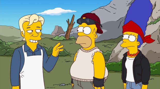 Julian Assange en Los Simpsons.