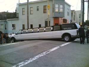 Beached SUV limo