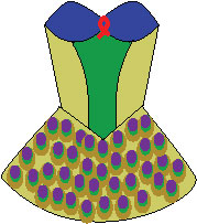 another sketch for the peacock tutu