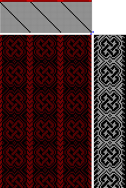 A 26-shaft (but probably reducible to 24-shaft) Celtic knot weaving draft