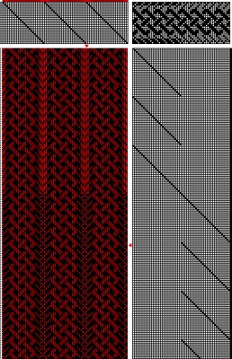 24-shaft weaving draft with 4-strand braid