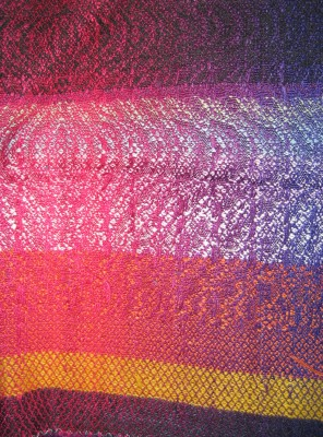Woven sample for the color-change shawls