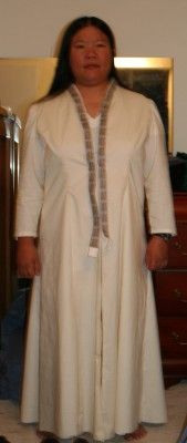 Bridal coat without crinoline