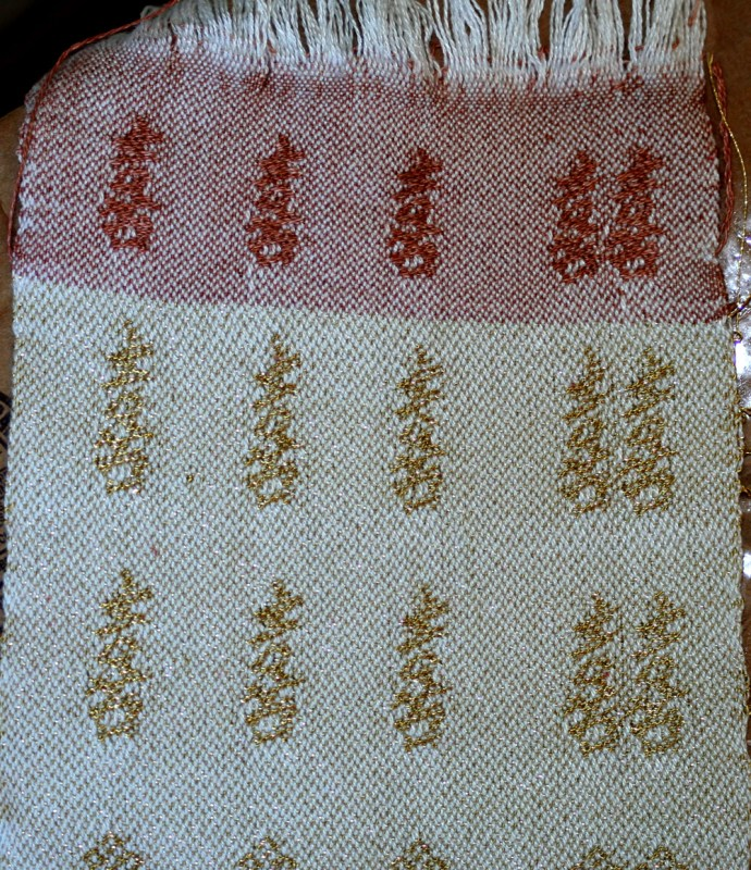 Sample for handwoven wedding dress