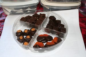 Tray of chocolates going with me to my guild meeting tomorrow!