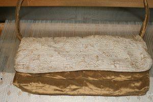 Hand-sewn silk purse