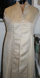 handwoven wedding-coat, basted together