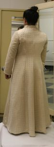 handwoven wedding dress, coat portion, partially assembled