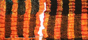 samples for handwoven collapse weave shawl