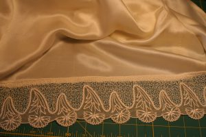 lace for the lining of a handwoven wedding dress