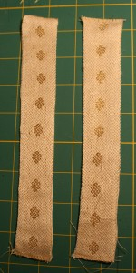 Bookmarks made of handwoven wedding dress fabric