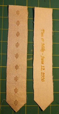 handwoven wedding-favor bookmarks