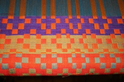 block doubleweave samples, top side