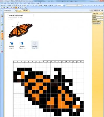 Sample notebook, in Microsoft OneNote