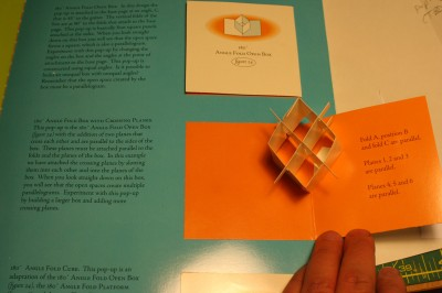 "inside page of ""The Elements of Pop-Up"", showing the sample pop-up as well as the detailed text.  (Click to see the full-sized image.)"