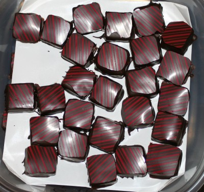 Boysenberry with lemon-orange marmalade chocolates