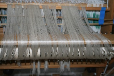 cotton-wrapped polyester warp, ready to thread!