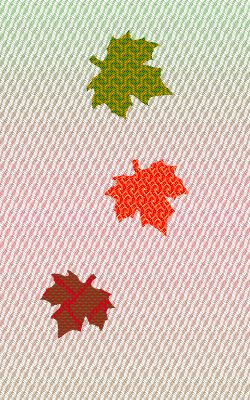 leaf simulation, all identical values, adding red to the background