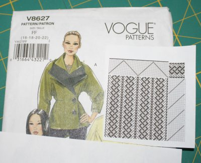 jacket pattern, with proposed draft