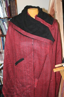 cashmere coat simulation, with braid trim