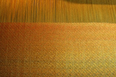 partially woven sample for Autumn Splendor