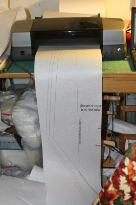 new large-format printer, hard at work
