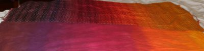 handwoven panel, top; flannel mockup, bottom