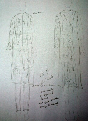 "First design sketch for ""Autumn Splendor""."