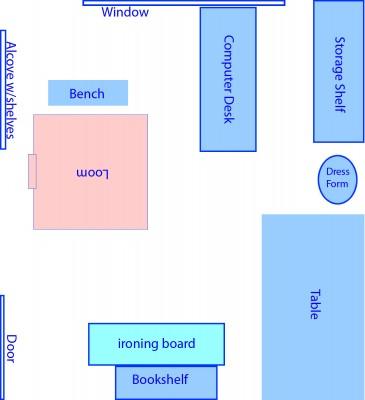 original floor plan for current studio