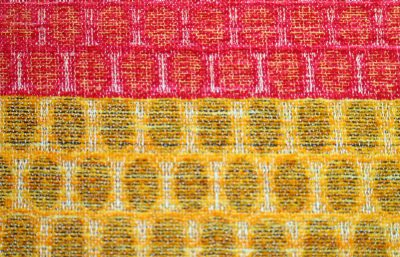 concentric dots in chenille and silk