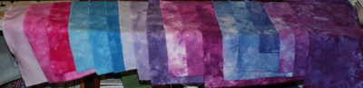 18 fat quarters, LWI dyed