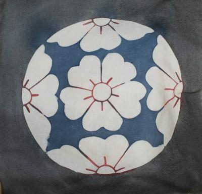 flower katazome, finished