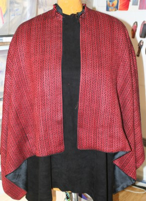 semi-finished cape, plain