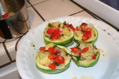stuffed zucchini!
