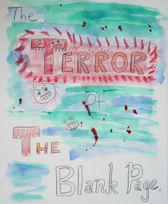 "The first page of Tien's new journal - ""The Terror of the Blank Page"""